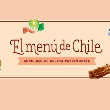 """INVITACIÓN A CONCURSO CULINARIO """"EL MENÚ DE CHILE, CONCURSO DE COCINA PATRIMONIAL"""""""