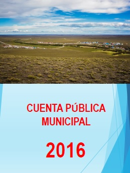 CUENTA PÚBLICA I. MUNICIPALIDAD DE SAN GREGORIO AÑO 2016