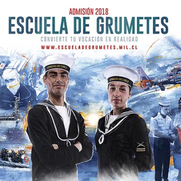 """ADMISIÓN 2018 ESCUELA DE GRUMETES """"ALEJANDRO NAVARRETE CISTERNA"""""""