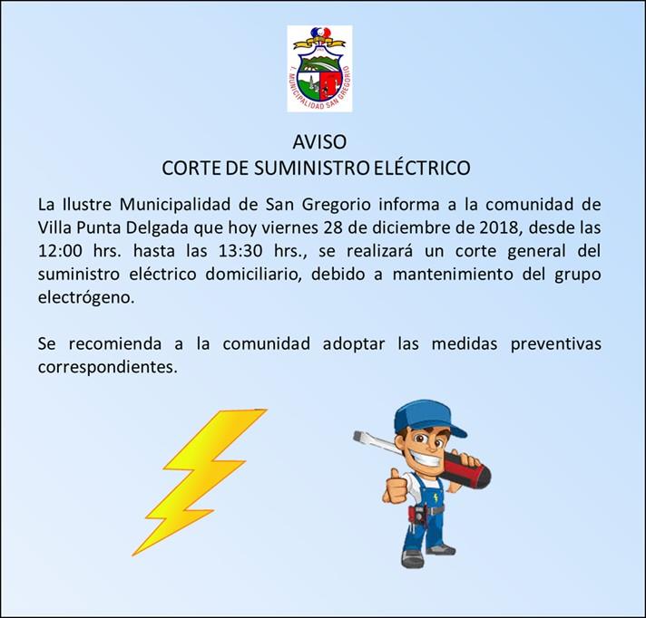 corte de electricidad