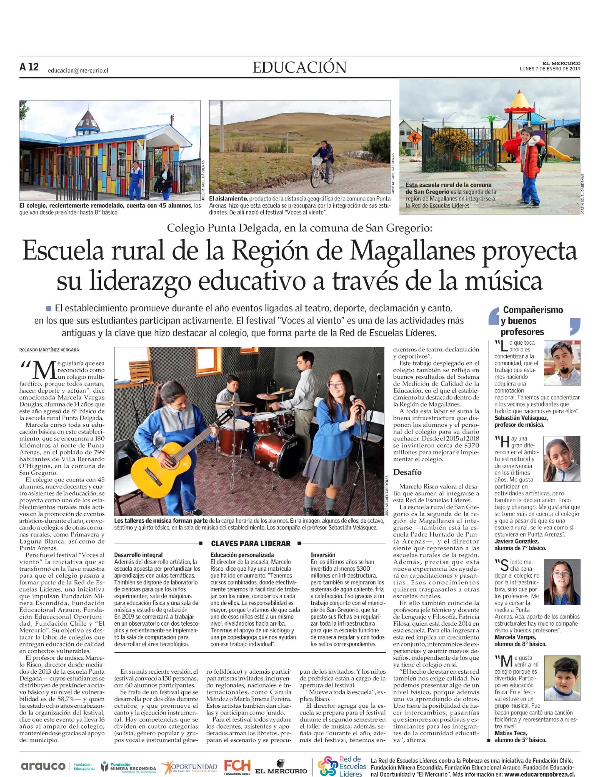 diario mercurio escuela