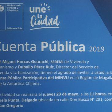 Invitación Cuenta Publica Participativa MINVU