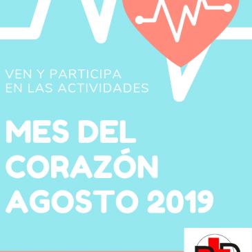 VEN Y PARTICIPA EN LAS ACTIVIDADES EN EL MES DEL CORAZÓN 2019
