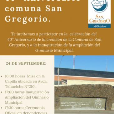 40° Aniversario comuna San Gregorio.