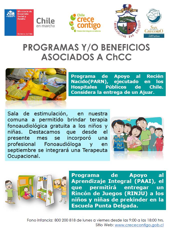 CHCC INFORMA PROGRAMAS Y BENEFICIOS V