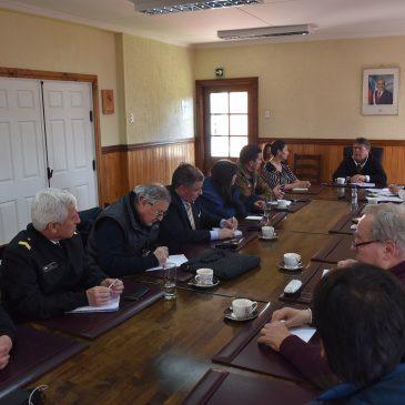 Reunión del comité de Seguridad Pública comunal.