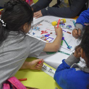 Exitosa jornada de Participación Ciudadana con niñas y niños de la Escuela Punta Delgada, quienes tuvieron la oportunidad de diseñar su propia Plaza de Juegos en la Villa.