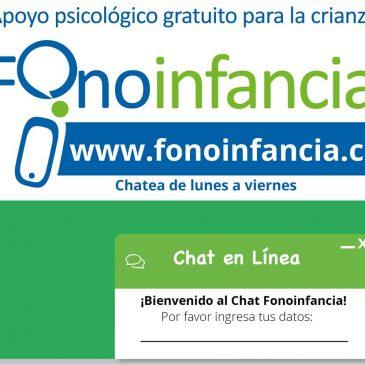 Chile Crece Contigo informa sobre el Chat-Fono Infancia de Fundación Integra.