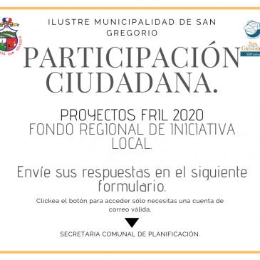 Participación Ciudadana FRIL 2020