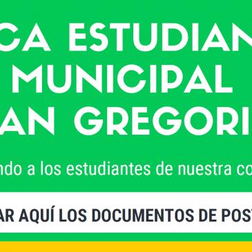 BECA ESTUDIANTIL MUNICIPAL SAN GREGORIO