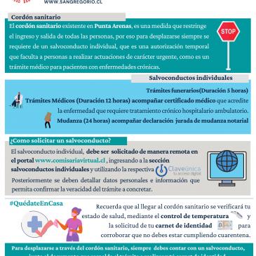 Información sobre Cordón Sanitario y Salvoconducto Individual