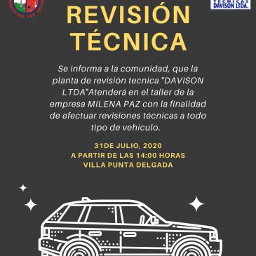 Ilustre Municipalidad de San Gregorio Informa: REVISIÓN TÉCNICA