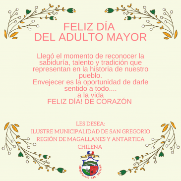 FELIZ DÍA DEL ADULTO MAYOR.