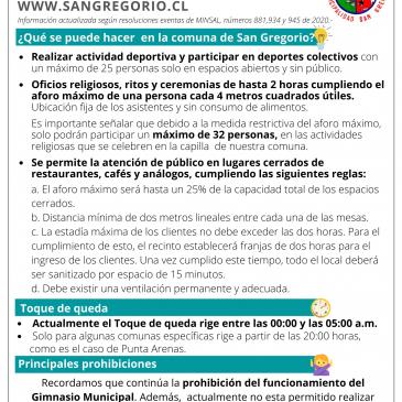 """San Gregorio continúa en etapa de """"Preparación"""""""