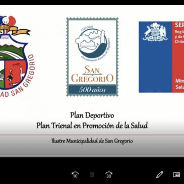 Cápsula Deportiva Plan Trienal de Promoción de la Salud.