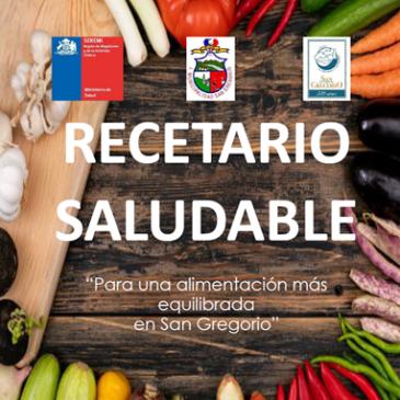 Recetario Saludable de la comuna de San Gregorio.