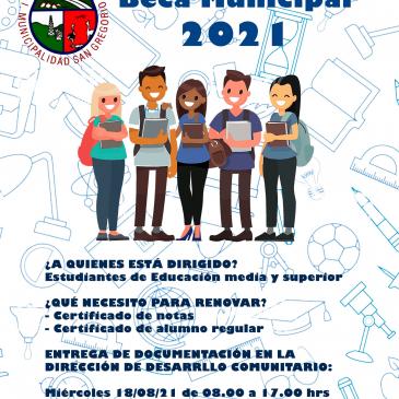 RENOVACIÓN BECA MUNICIPAL 2021