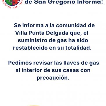 Ilustre Municipalidad de San Gregorio Informa :