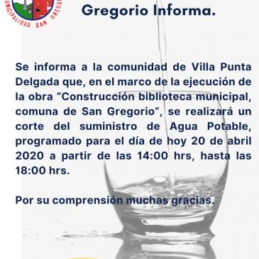 ILUSTRE MUNICIPALIDAD DE SAN GREGORIO INFORMA