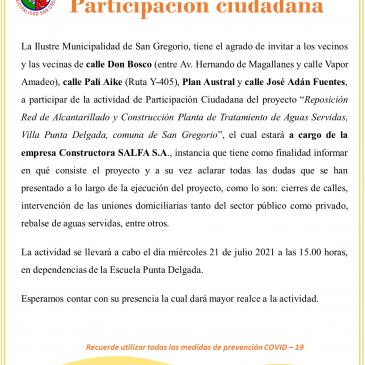 Invitación Participación ciudadana.