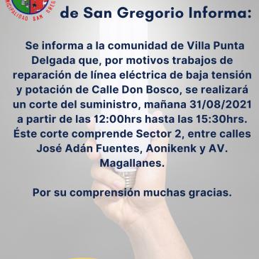ILUSTRE MUNICIPALIDAD DE SAN GREGORIO INFORMA.