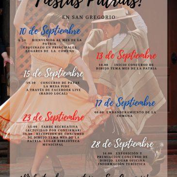 Fiestas Patrias en San Gregorio!