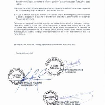 """Antecedentes Proyecto  """"Reposición Red de Alcantarillado y Construcción Planta de Tratamiento Aguas Servidas"""""""